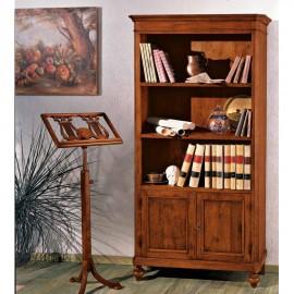 Dřevěná rustikální knihovna