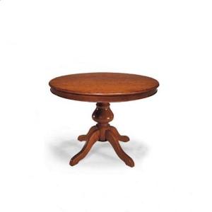 Kulatý jídelní stůl s mohutnou nohou