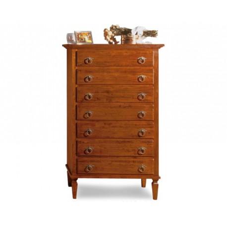 Vintage dřevěná šuplíková komoda