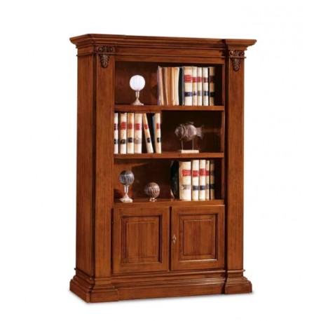 Dřevěná knihovna