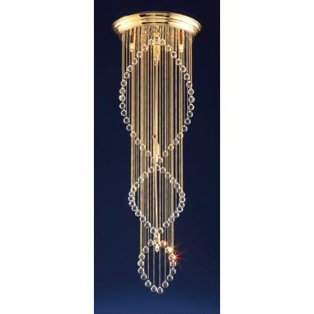 Zlatý křišťálový lustr