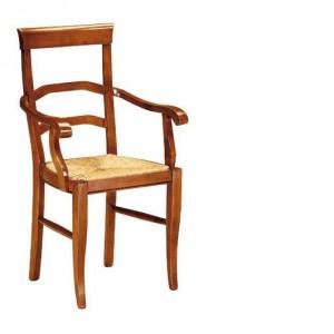 Dřevěná jídelní židle s područkami