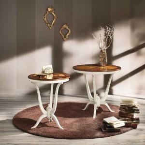 Kavárenský stolek s intarsií