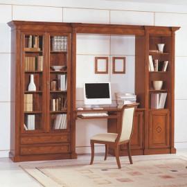 Knihovna s psacím stolem