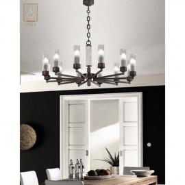 Moderní kovový lustr