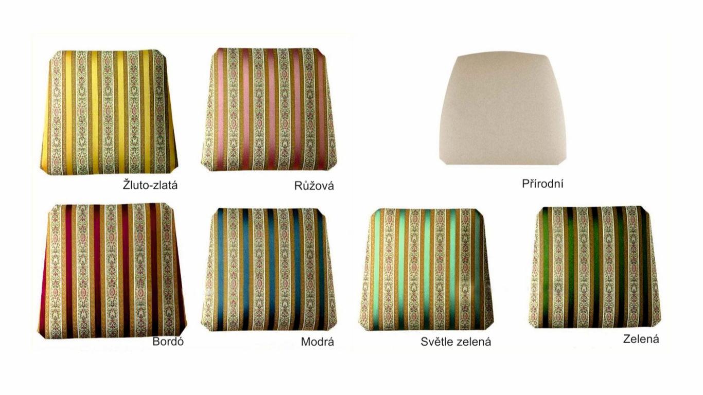 Vzorky látky jídelní židle